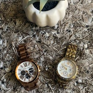 Michael Kors rose gold and gold watches